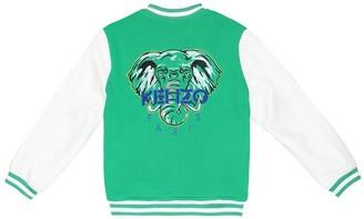Kenzo Kids Embroidered cotton bomber jacket