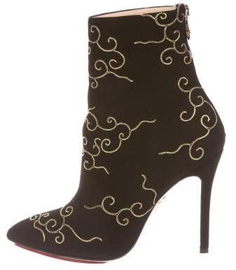 Charlotte Olympia Betsy Embroidered Booties