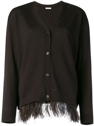 P.A.R.O.S.H. ostrich feather cardigan
