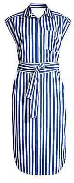 Derek Lam Women's Sleeveless Striped Shirtdress