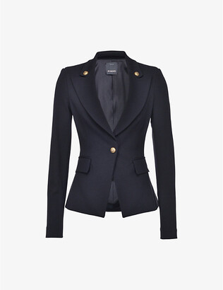 Pinko Ermanno tailored blazer with military buttons