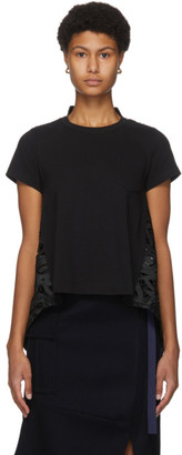 Sacai Black Lace Paisley Back T-Shirt