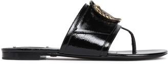 Roberto Cavalli Embellished Patent-leather Sandals