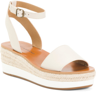 Espadrille One Band Leather Sandals