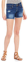 YMI Jeanswear Luxe Distressed Raw Hem Cutoff Shorts