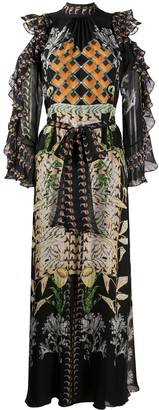 Temperley London Harmony-print silk dress