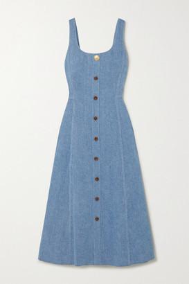 Adam Lippes Denim Midi Dress - Light blue