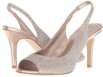 Pelle Moda Rocia (Black Satin) Women's Toe Open Shoes