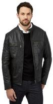 Jeff Banks Big And Tall Black Leather Jacket