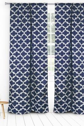 Duck River Textile L'kyra Geometric Blackout Curtain Set - Navy