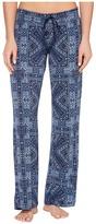 PJ Salvage Blue Batik Paisley Lounge Pants Women's Casual Pants