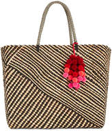 INC International Concepts Stella Woven Beach Tote, Created for Macy's
