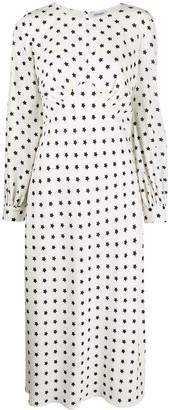 Parlor Star Print Midi Dress