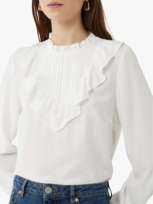 Warehouse Ruffle Neck Shirt
