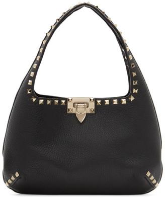 Valentino Black Garavani Grained Small Rockstud Bag