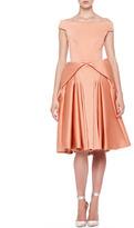 Zac Posen Off-Shoulder Full-Skirt Dress, Light Coral