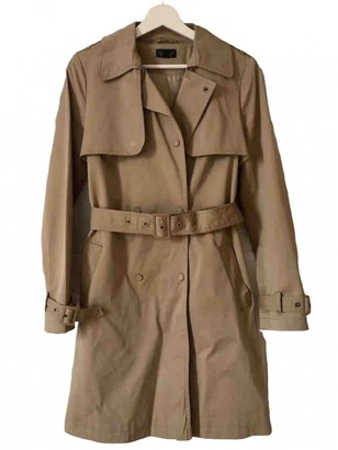 Topshop Tophop Camel Cotton Trench Coat for Women