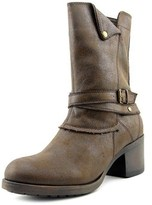 Mia Santiago Women Round Toe Synthetic Brown Mid Calf Boot.