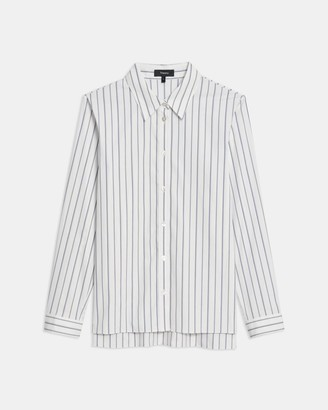 Theory Trapeze Shirt in Striped Good Cotton