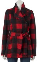 Madden-Girl Juniors' Side-Zip Plaid Jacket