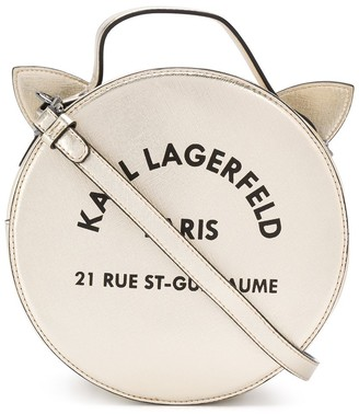 Karl Lagerfeld Paris Logo Cat Shoulder Bag