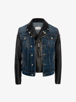 Alexander McQueen Hybrid Denim Biker Jacket