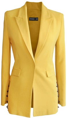 L'momo Blazer With Cut Out Sides & Metal Chain Detail