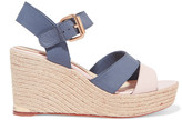 Paloma Barceló Ceralin leather espadrille wedge sandals