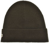Lacoste Ribbed Beanie Green