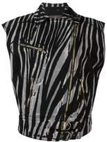 Roberto Cavalli zebra print biker jacket