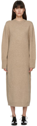 Arch The SSENSE Exclusive Brown Wool and Cashmere Crewneck Dress