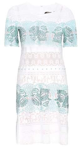 Roberto Cavalli Embroidered cotton dress