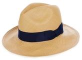 SENSI STUDIO Panama Straw Hat With Italian Bow