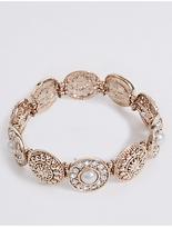 M&S Collection Diamanté Pearl Bracelet