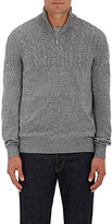 Brunello Cucinelli Men's Virgin Wool-Blend Half-Zip Sweater-GREY