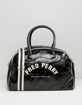 Fred Perry Logo Holdall In Black