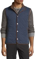 Tommy Bahama Quilted Button-Front Vest, Midnight Blue