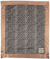 "MyBlankee My Blankee Leopard Minky Velour Brown with Espresso Flat Satin Border, Baby Blanket 30"" x 35"" by My Blankee"