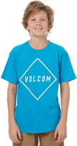 Volcom Boys Pitcher Tee Blue