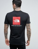 The North Face Red Box T-shirt Back Logo In Black