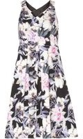 Dorothy Perkins Womens Petite Floral Print Cross Back Prom Dress- Multi