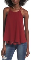 Soprano Women's Lace Trim Tank