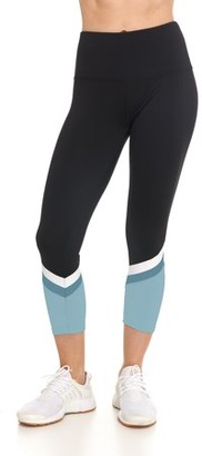 Bsp Capri Length Highwaist Legging with Rubber Stripes