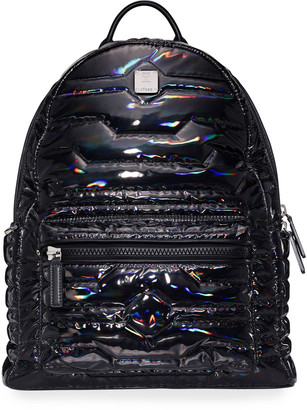 MCM Men's Stark Shiny Quilted Backpack