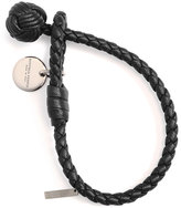 Bottega Veneta Intrecciato Single-Knot Bracelet, Black