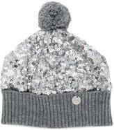 Simonetta sequinned knitted beanie - kids - Cotton/Polyester/Spandex/Elastane/Cashmere - 40 cm