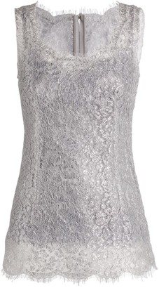 Dolce & Gabbana Embroidered Sleeveless Top