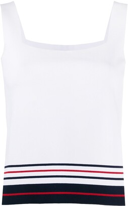 Thom Browne Double Cricket stripe tank top