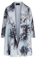 Marina Rinaldi Shawl Collar Floral Print Coat
