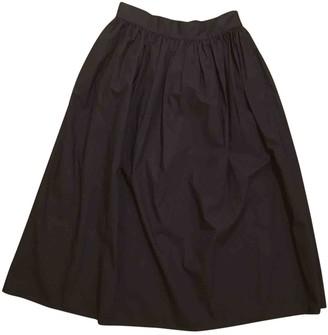 Cos Black Cotton Skirt for Women